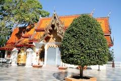 Tempel på Doi Suthep, Chiang Mai, Thailand Arkivfoto