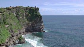 Tempel på en vagga ovanför havkusten lager videofilmer