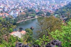 Tempel på Hanoi, Vietnam Arkivfoton