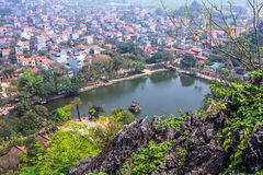 Tempel på Hanoi, Vietnam Fotografering för Bildbyråer
