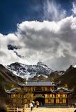 Tempel på Huanglong Sichuan Royaltyfri Foto