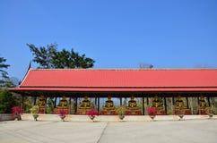 Tempel på Kanchanaburi Thailand Arkivbild