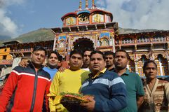 Tempel på kullestationen Uttrakhand i Indien Royaltyfri Fotografi