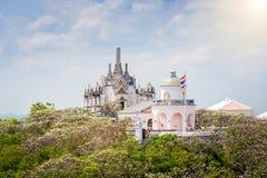 Tempel på topofberget, arkitektoniska detaljer av Phra Nakhon Kh Fotografering för Bildbyråer