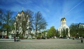 Tempel på Victory Square royaltyfri bild