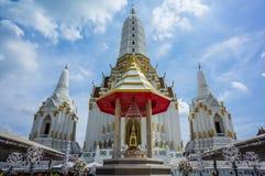 Tempel på wat Pichaya-yatigaram Bangkok Thailand Arkivbilder