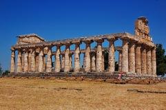 Tempel in Paestum, Italië Stock Fotografie