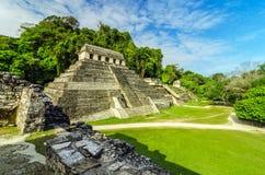 Tempel in Palenque Stockfotos