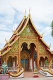 Tempel Phayao, Thailand Arkivbild