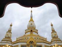 Tempel Phra Maha Chedi Chai Mongkol Temple, allgemeines u. berühmter lizenzfreies stockfoto