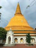 Tempel Phra Pathom Chedi stockbilder