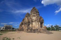 Tempel Phra Prang Sam Yot, Architektur in Lopburi, Thailand Stockfotografie