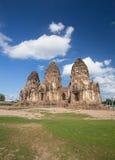 Tempel Phra Prang Sam Yot, Architektur in Lopburi, Thailand Lizenzfreies Stockbild