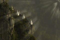 Tempel Phra Tat Pha Phoo Pha Dang stockbild