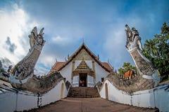 Tempel Phumin i det nan landskapet, Thailand Arkivbild