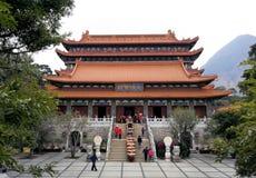 Tempel in PO Lin Monastery Hong Kong lizenzfreies stockbild