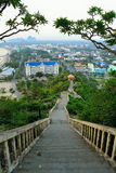 Tempelberg Prajuabkerekan in Thailand Stockbilder