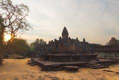 Tempel Prasat Bakong, Kambodscha stockbilder