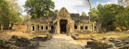 Tempel Preah Khan mit Bäumen, UNESCO-Bauerbe in Kambodscha Stockfoto