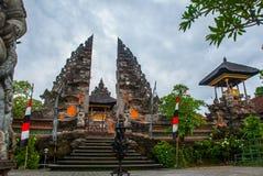 Tempel Pura Pusen Ubud Bali, Indonesien Arkivbilder