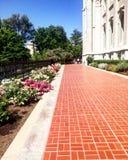 Tempel-quadratischer Gehweg lizenzfreie stockbilder