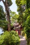 Tempel Rrwang (zwei Adel) von Dujiang-Wehr Stockbilder