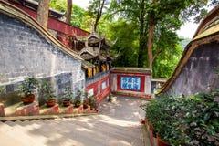 Tempel Rrwang (zwei Adel) von Dujiang-Wehr Lizenzfreie Stockfotografie