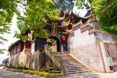 Tempel Rrwang (zwei Adel) von Dujiang-Wehr Lizenzfreie Stockbilder