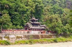 Tempel Rrwang (zwei Adel) von Dujiang-Wehr Stockfotos