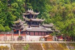 Tempel Rrwang (zwei Adel) von Dujiang-Wehr Stockbild