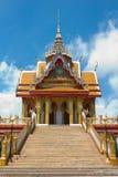 Tempel in Sakonnakorn Thailand stock afbeelding