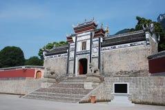 Tempel in Sandouping bij Yangtze-rivier stock afbeeldingen