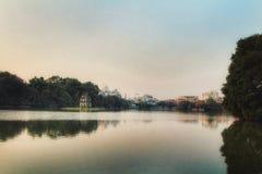 Tempel See-Haupt-Vietnams Hanoi stockfotos