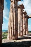 Tempel in Selinunte Stock Afbeeldingen
