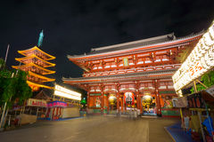 Tempel Senso -senso-ji royalty-vrije stock foto's