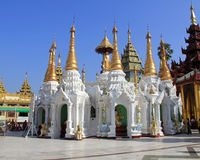 Tempel an Shwedagon-Pagode Stockfoto