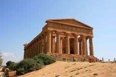 Tempel in Sicilië Royalty-vrije Stock Foto's