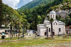 Tempel Simon Kananit i nya Athos, Abchazien Arkivfoton