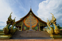 Tempel Sirindhorn Wararam artistieke Phuproud, Thailand, openbare pl Royalty-vrije Stock Foto's