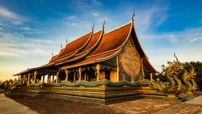 Tempel Sirindhorn Wararam Phu Prao Stockbild