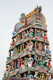 Tempel Sri Mariamman, hindischer Tempel Singapurs Stockbilder