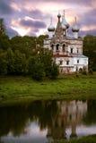 Tempel in stad van Vologda Stock Foto's