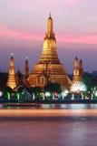 Tempel an sunset.bangkok.tailand Lizenzfreies Stockbild