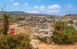 Tempel Ta Hagrat Stockfotografie