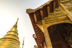 Tempel thailändsk tempel, Wat Pra Singh, Chiang Mai, Thailand, Royaltyfria Foton