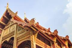 Tempel thailändsk tempel, Wat Pra Singh, Chiang Mai, Thailand, Arkivfoton