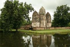 tempel thailand för khmerprangssukhothai arkivfoton