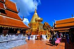 Tempel Thailand för Wat Phra That Doi suthepberg askfat Arkivbild