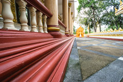Tempel Thailand i Ubonratchatani Arkivbilder