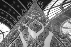 Tempel Thailand in Ubonratchatani Stock Afbeelding